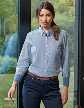Ladies Cotton Rich Oxford Stripes Shirt