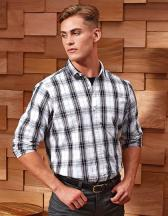 Ginmill Check Mens Long Sleeve Cotton Shirt