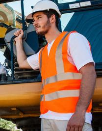 Safety Vest with four Reflectors EN ISO 20471