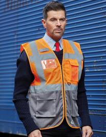 Hi Vis Top Cool Recycled Open Mesh Executive Waistcoat